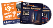 DVD 9/11: Explosive Evidence - Experts Speak Out. Pack of DVDs in paper sleeves.